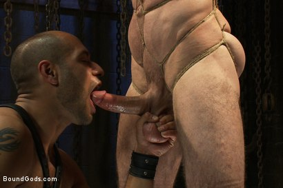 Photo number 7 from Flip Fuck - Part One shot for Bound Gods on Kink.com. Featuring Leo Forte and Jason Miller in hardcore BDSM & Fetish porn.