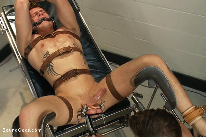 Photo number 11 from Dr Parker London and His Unwilling Patient shot for Bound Gods on Kink.com. Featuring Parker London and Trent Diesel in hardcore BDSM & Fetish porn.
