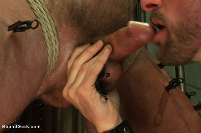 Photo number 14 from Morgan Black shot for Bound Gods on Kink.com. Featuring Morgan Black and Chad Brock in hardcore BDSM & Fetish porn.
