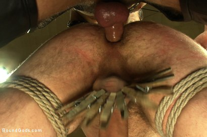 Photo number 11 from 18 year old slave boy endures the most intense ball stretching on BG. shot for Bound Gods on Kink.com. Featuring Master Avery and     Cody Allen in hardcore BDSM & Fetish porn.