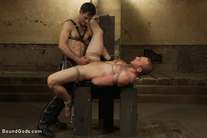 Photo number 14 from 18 year old slave boy endures the most intense ball stretching on BG. shot for Bound Gods on Kink.com. Featuring Master Avery and     Cody Allen in hardcore BDSM & Fetish porn.