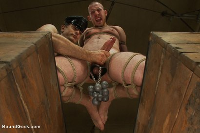 Photo number 7 from 18 year old slave boy endures the most intense ball stretching on BG. shot for Bound Gods on Kink.com. Featuring Master Avery and     Cody Allen in hardcore BDSM & Fetish porn.