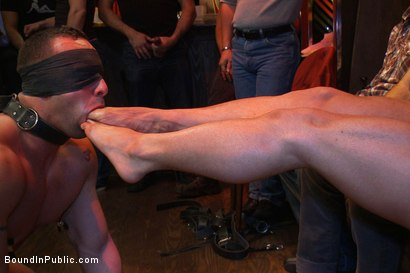 Photo number 11 from Italian bodybuilder is used and humiliated at a public bar.  shot for Bound in Public on Kink.com. Featuring John Magnum and Fabio Stallone in hardcore BDSM & Fetish porn.