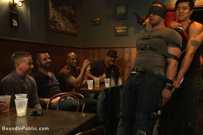 Photo number 1 from Italian bodybuilder is used and humiliated at a public bar.  shot for Bound in Public on Kink.com. Featuring John Magnum and Fabio Stallone in hardcore BDSM & Fetish porn.