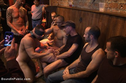 Photo number 6 from Italian bodybuilder is used and humiliated at a public bar.  shot for Bound in Public on Kink.com. Featuring John Magnum and Fabio Stallone in hardcore BDSM & Fetish porn.
