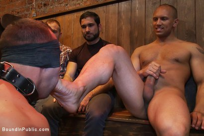 Photo number 10 from Italian bodybuilder is used and humiliated at a public bar.  shot for Bound in Public on Kink.com. Featuring John Magnum and Fabio Stallone in hardcore BDSM & Fetish porn.