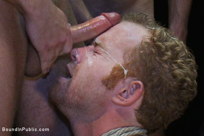 Photo number 13 from Hot Gym Trainer Gets Tied up and Gang Fucked in a Porn Store shot for Bound in Public on Kink.com. Featuring Tristan Jaxx and Alex Summers in hardcore BDSM & Fetish porn.