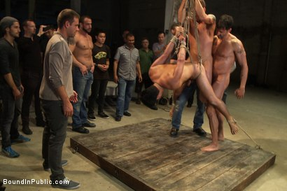 Photo number 9 from Dominic Pacifico gang fucked & pissed on by strange men shot for Bound in Public on Kink.com. Featuring Spencer Reed and Dominic Pacifico in hardcore BDSM & Fetish porn.