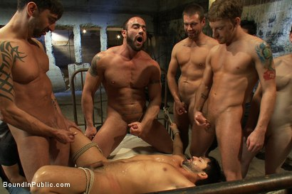 Photo number 12 from Dominic Pacifico gang fucked & pissed on by strange men shot for Bound in Public on Kink.com. Featuring Spencer Reed and Dominic Pacifico in hardcore BDSM & Fetish porn.