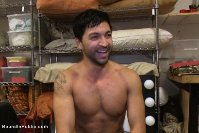 Photo number 15 from Dominic Pacifico gang fucked & pissed on by strange men shot for boundinpublic on Kink.com. Featuring Spencer Reed and Dominic Pacifico in hardcore BDSM & Fetish porn.