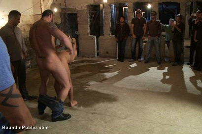 Photo number 2 from Dominic Pacifico gang fucked & pissed on by strange men shot for Bound in Public on Kink.com. Featuring Spencer Reed and Dominic Pacifico in hardcore BDSM & Fetish porn.