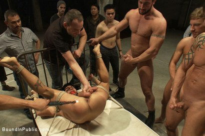 Photo number 13 from Dominic Pacifico gang fucked & pissed on by strange men shot for Bound in Public on Kink.com. Featuring Spencer Reed and Dominic Pacifico in hardcore BDSM & Fetish porn.