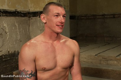 Photo number 15 from The wrestler gets gang banged by a horny crowd in a public restroom for losing his match.      shot for Bound in Public on Kink.com. Featuring Phenix Saint and Kieron Ryan in hardcore BDSM & Fetish porn.