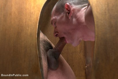 Photo number 4 from The wrestler gets gang banged by a horny crowd in a public restroom for losing his match.      shot for Bound in Public on Kink.com. Featuring Phenix Saint and Kieron Ryan in hardcore BDSM & Fetish porn.