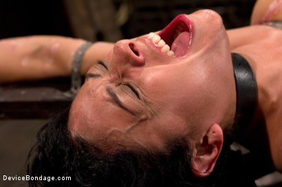 Photo number 2 from Bound by metal, covered in wax, fucked by machine shot for Device Bondage on Kink.com. Featuring Beretta James in hardcore BDSM & Fetish porn.