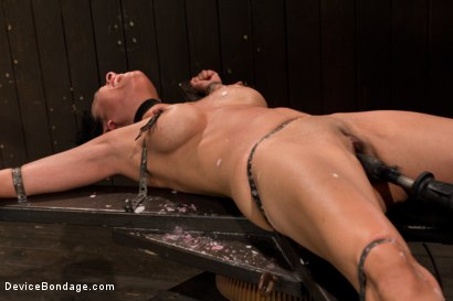 Photo number 10 from Bound by metal, covered in wax, fucked by machine shot for Device Bondage on Kink.com. Featuring Beretta James in hardcore BDSM & Fetish porn.