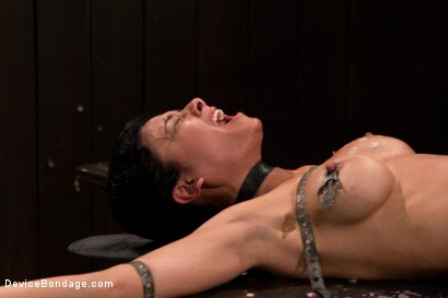 Photo number 11 from Bound by metal, covered in wax, fucked by machine shot for Device Bondage on Kink.com. Featuring Beretta James in hardcore BDSM & Fetish porn.