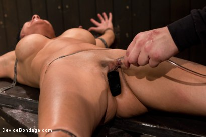 Photo number 3 from Bound by metal, covered in wax, fucked by machine shot for Device Bondage on Kink.com. Featuring Beretta James in hardcore BDSM & Fetish porn.