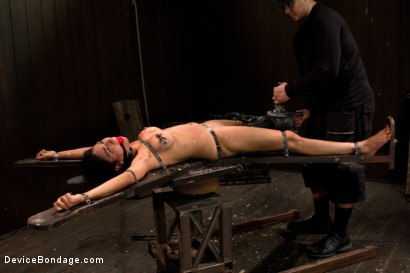 Photo number 7 from Bound by metal, covered in wax, fucked by machine shot for Device Bondage on Kink.com. Featuring Beretta James in hardcore BDSM & Fetish porn.