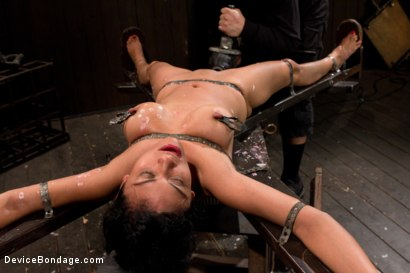 Photo number 13 from Bound by metal, covered in wax, fucked by machine shot for Device Bondage on Kink.com. Featuring Beretta James in hardcore BDSM & Fetish porn.