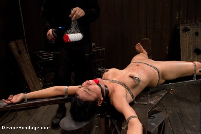 Photo number 5 from Bound by metal, covered in wax, fucked by machine shot for Device Bondage on Kink.com. Featuring Beretta James in hardcore BDSM & Fetish porn.