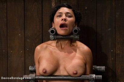 Photo number 12 from Tight bodied brunette rides the sybian shot for Device Bondage on Kink.com. Featuring Beretta James in hardcore BDSM & Fetish porn.