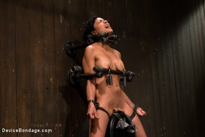 Photo number 9 from Tight bodied brunette rides the sybian shot for Device Bondage on Kink.com. Featuring Beretta James in hardcore BDSM & Fetish porn.