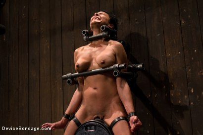 Photo number 2 from Tight bodied brunette rides the sybian shot for Device Bondage on Kink.com. Featuring Beretta James in hardcore BDSM & Fetish porn.