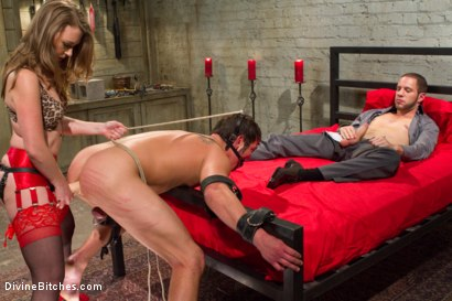 Photo number 12 from Mistress T cuckolds and blackmails her gambling addicted husband! shot for Divine Bitches on Kink.com. Featuring Wolf Hudson, Mike J and Mistress T in hardcore BDSM & Fetish porn.