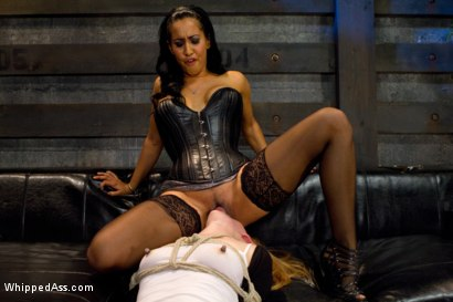 Photo number 14 from Local San Francisco cutie fulfills her fantasies of fist fucking & suspension sex on WhippedAss.com! shot for Whipped Ass on Kink.com. Featuring Isis Love and Mallory Mallone in hardcore BDSM & Fetish porn.