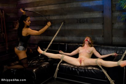 Photo number 5 from Local San Francisco cutie fulfills her fantasies of fist fucking & suspension sex on WhippedAss.com! shot for Whipped Ass on Kink.com. Featuring Isis Love and Mallory Mallone in hardcore BDSM & Fetish porn.