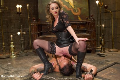Photo number 12 from Mistress T Is What You Crave! shot for Divine Bitches on Kink.com. Featuring Mistress T and Dutch Bardoux in hardcore BDSM & Fetish porn.