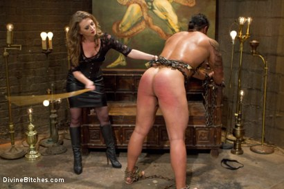 Photo number 2 from Mistress T Is What You Crave! shot for Divine Bitches on Kink.com. Featuring Mistress T and Dutch Bardoux in hardcore BDSM & Fetish porn.