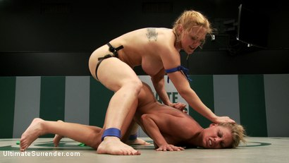 Photo number 15 from 2 big titted blonds battle in non-scripted wrestling. Submission holds, face sitting, finger fucking shot for Ultimate Surrender on Kink.com. Featuring Dee Williams and Charisma Cappelli in hardcore BDSM & Fetish porn.