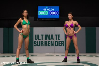 Photo number 2 from <b>Gia DiMarco (2-1)<br>VS<br>Lyla Storm (0-2)<br><br>Brutal Featherweight action! Loser fucked! shot for Ultimate Surrender on Kink.com. Featuring Lyla Storm and Gia DiMarco in hardcore BDSM & Fetish porn.