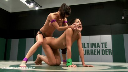 Photo number 15 from <b>Gia DiMarco (2-1)<br>VS<br>Lyla Storm (0-2)<br><br>Brutal Featherweight action! Loser fucked! shot for Ultimate Surrender on Kink.com. Featuring Lyla Storm and Gia DiMarco in hardcore BDSM & Fetish porn.