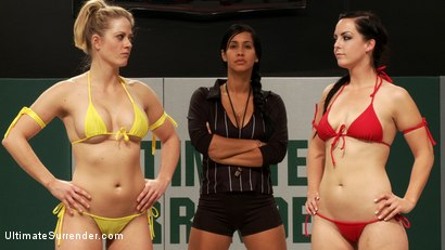 Photo number 10 from Bonus: Serena Blair vs Katie Summers & Bryn Blayne vs Holly Heart shot for Ultimate Surrender on Kink.com. Featuring Katie Summers, Serena Blair, Bryn Blayne and Holly Heart in hardcore BDSM & Fetish porn.