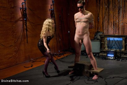 Photo number 15 from Your Cock Is Denied shot for Divine Bitches on Kink.com. Featuring Aiden Starr and Scratch in hardcore BDSM & Fetish porn.