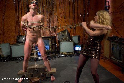 Photo number 4 from Your Cock Is Denied shot for Divine Bitches on Kink.com. Featuring Aiden Starr and Scratch in hardcore BDSM & Fetish porn.