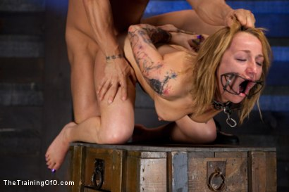 Photo number 11 from Jessie Cox Day 1<br>Sexual Slave Training shot for The Training Of O on Kink.com. Featuring Jessie Cox and Derrick Pierce in hardcore BDSM & Fetish porn.