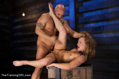 Photo number 13 from Jessie Cox Day 1<br>Sexual Slave Training shot for The Training Of O on Kink.com. Featuring Jessie Cox and Derrick Pierce in hardcore BDSM & Fetish porn.
