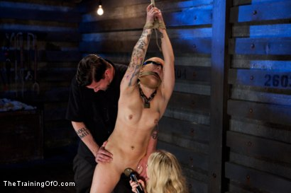 Photo number 11 from Slave Training Jessie Cox, Day 4<br>Submitting to a Goddess shot for The Training Of O on Kink.com. Featuring Jessie Cox and Aiden Starr in hardcore BDSM & Fetish porn.