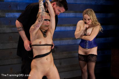 Photo number 9 from Slave Training Jessie Cox, Day 4<br>Submitting to a Goddess shot for The Training Of O on Kink.com. Featuring Jessie Cox and Aiden Starr in hardcore BDSM & Fetish porn.