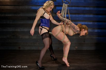 Photo number 6 from Slave Training Jessie Cox, Day 4<br>Submitting to a Goddess shot for The Training Of O on Kink.com. Featuring Jessie Cox and Aiden Starr in hardcore BDSM & Fetish porn.