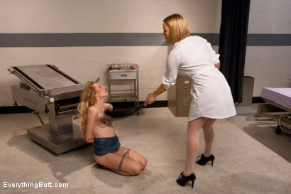 Photo number 3 from The Anal Nurse shot for Everything Butt on Kink.com. Featuring Mark Davis, Emma Haize and Krissy Lynn in hardcore BDSM & Fetish porn.