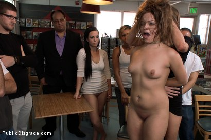 Photo number 8 from Adorable 19 Year old Disgraced in Comic Book Store shot for Public Disgrace on Kink.com. Featuring James Deen, Ashlynn Leigh and Princess Donna Dolore in hardcore BDSM & Fetish porn.