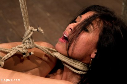 Photo number 11 from 23yr's 1st time at KINK, & in bondage!   1st time helpless, 1st time being made to cum over & over! shot for Hogtied on Kink.com. Featuring Heather Vahn in hardcore BDSM & Fetish porn.
