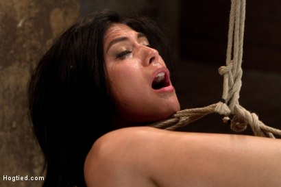 Photo number 12 from 23yr's 1st time at KINK, & in bondage!   1st time helpless, 1st time being made to cum over & over! shot for Hogtied on Kink.com. Featuring Heather Vahn in hardcore BDSM & Fetish porn.