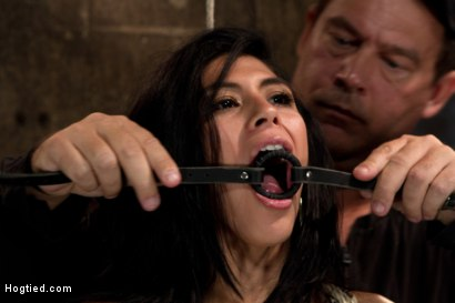Photo number 3 from 23yr's 1st time at KINK, & in bondage!   1st time helpless, 1st time being made to cum over & over! shot for Hogtied on Kink.com. Featuring Heather Vahn in hardcore BDSM & Fetish porn.