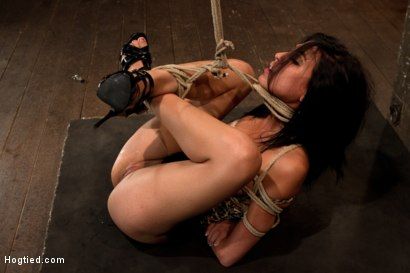 Photo number 10 from 23yr's 1st time at KINK, & in bondage!   1st time helpless, 1st time being made to cum over & over! shot for Hogtied on Kink.com. Featuring Heather Vahn in hardcore BDSM & Fetish porn.